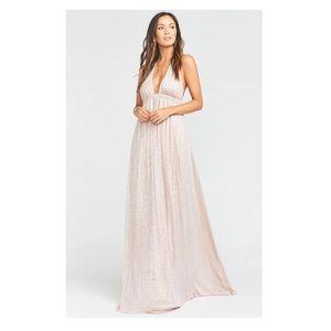 Show me your Mumu Luna Halter Dress Mauve Glimmer